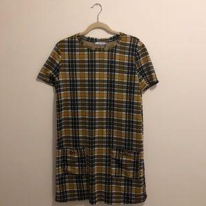 Zara Trafaluc Plaid Dress NWT